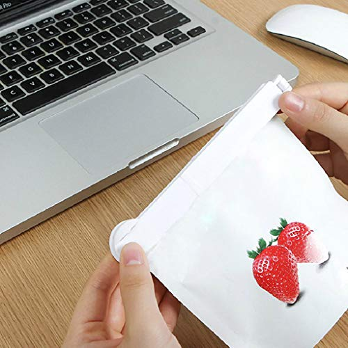 5Pcs Snack Sealing Clips,Food Plastic Sealed Clip Bags Clip with Date Mark Kitchen Gadgets Accessories (White) by Sexyp-dress (Image #4)