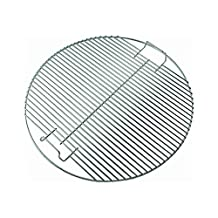 """Bar.b.q.s Plated Steel Hinged Grid Cooking Grid Grate For Weber Kettle One-Touch Grill (22.5"""")"""