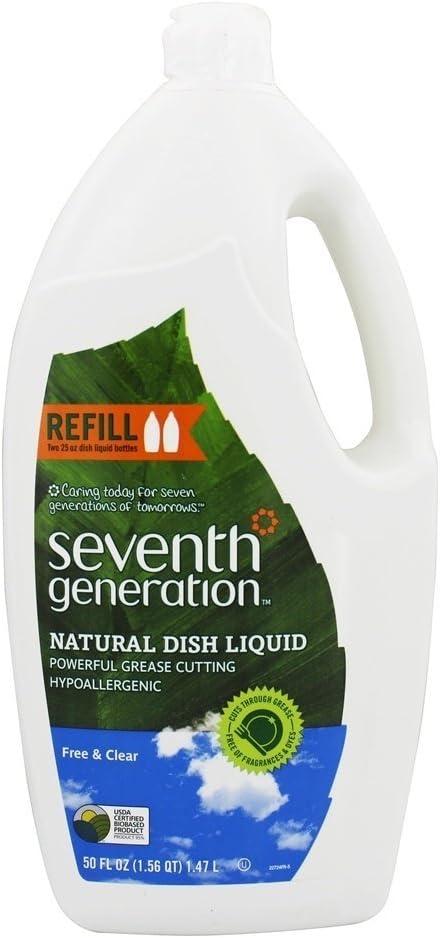 Seventh Generation Dishwashing Liquid, Natural, 50 Fl Oz