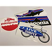 Patagonia Set of 4 Vinyl Sticker Decal Mountain Trout Bike Bicycle Surfing Board