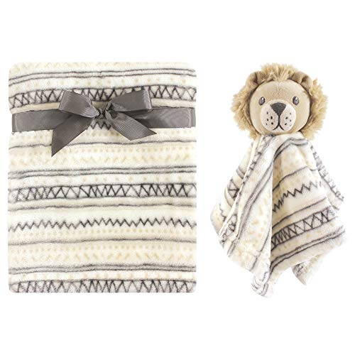 Hudson Baby Unisex Baby Plush Blanket with Security Blanket, Lion 2 Piece, One Size -