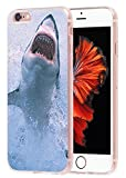 shark iphone 6 case - Case for iPhone 6S Animal & Cover for 6S & MUQR Flexible Gel Silicone Slim Drop Proof Protection Cover Compatible for iPhone 6/6S & A Terrible Great White Shark