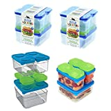 2 Pack Arctic Zone Interlockers Food Storage Containers with Lids Lunch Set Sandwich Snack Ice Brick Stackable Locking