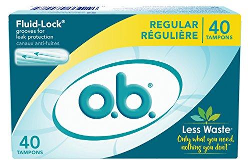 o.b. Applicator Free Digital Tampons, Regular - 40 Count