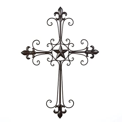 Amazon Com Wall Crosses Iron Rustic Crosses Wall Decor For Home