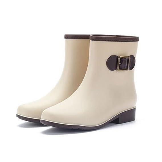 Minetom Mujer Casual Moda Botines De Lluvia Festival Botas De Agua Muy Ligera Impermeable Anti-deslizante Arco Zapatos Rain Boot: Amazon.es: Ropa y ...