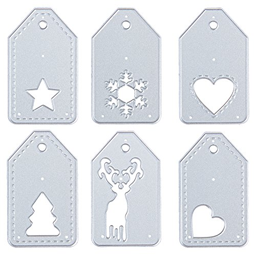 Christmas Cutting Dies for DIY Scrapbook Supplies, Metal Die Cuts for Card Making, DIY Scrapbooking and Embossing Paper Craft (6 Pcs Christmas set)