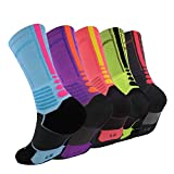 Elite Basketball Socks, Cushioned Athletic Crew