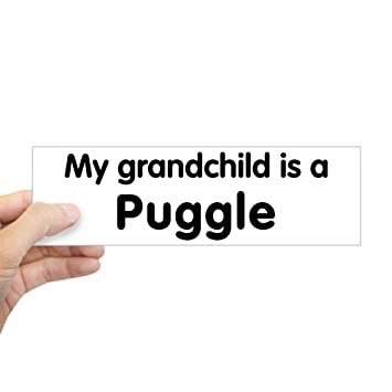Cafepress puggle grandchild bumper sticker 10x3 rectangle bumper