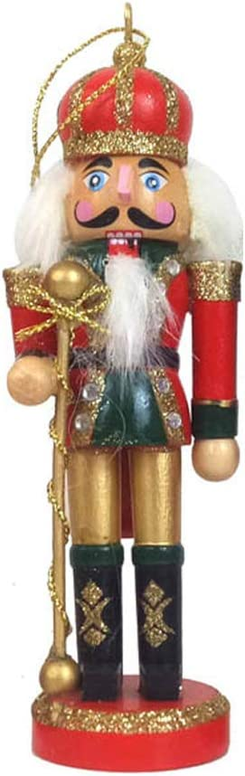Wanghuaner 1 PC en Bois Casse-Noisette Poup/ée Soldat Figurines Miniatures Vintage Artisanat Marionnette De No/ël Ornements Home Decor