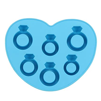 HKFV Moldes de Silicona para Hacer Hielo, Diseño único de Anillos de Diamante, Diseño