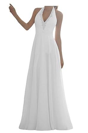 JAEDEN Damen Brautkleider Lang A Linie Chiffon Hochzeitskleid ...