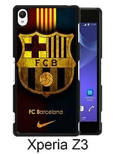 Fc Barcelona Black New Cool Custom Design Sony Xperia Z3 Cover Case