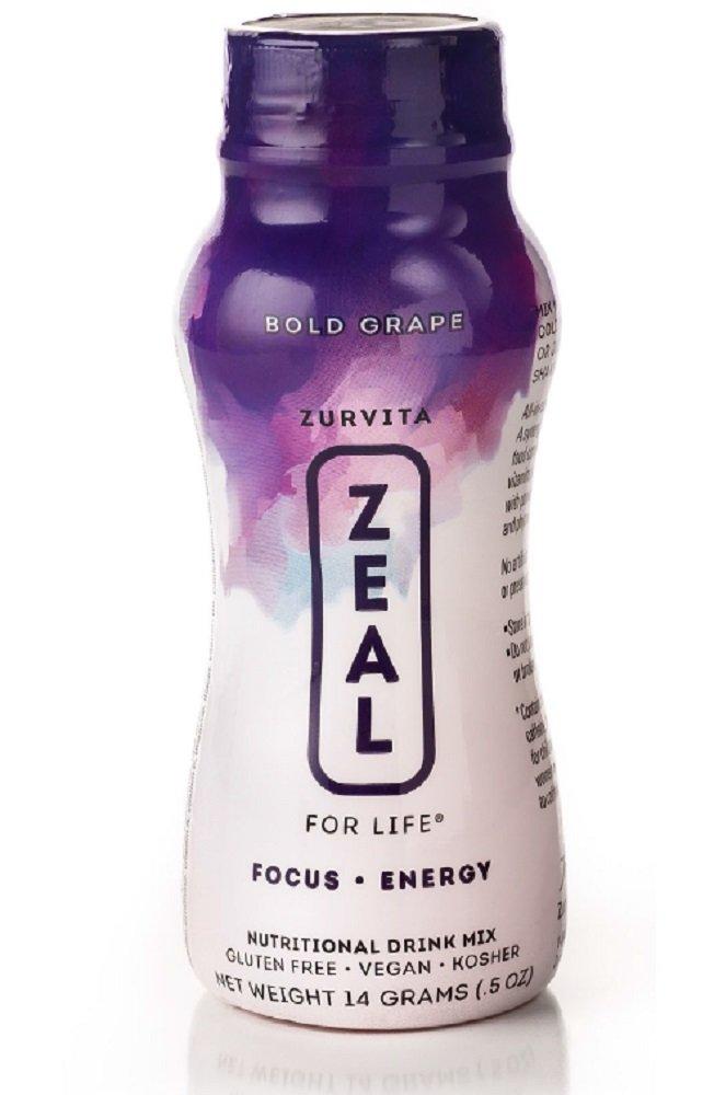 Zeal for Life Bold Grape bottles