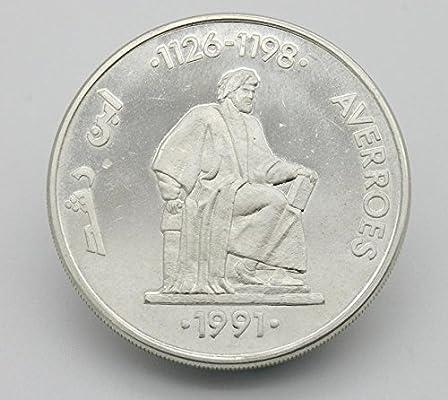 Desconocido 5 ECU de Plata Edición Averroes del Año 1991. Moneda Conmemorativa. Moneda Coleccionable. Moneda Antigua.: Amazon.es: Juguetes y juegos