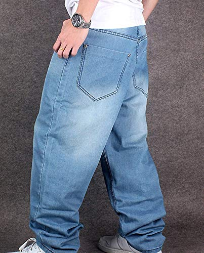 Gamba Vita Da Dritti Uomo Denim Bassa Stile Hop Larghi Semplice A Hip Pantaloni Rap In Colour Hipbalu fA1w6xI8fq