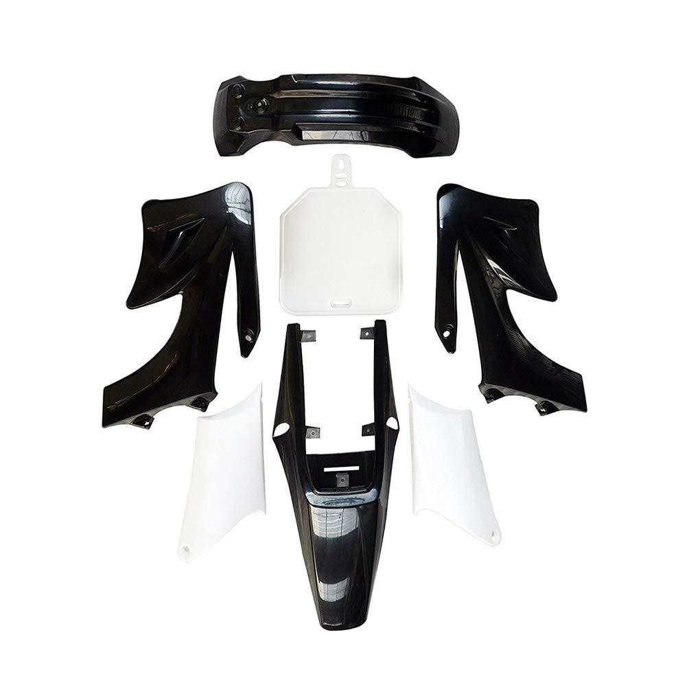 WPHMOTO Plastic Fairing Kit /& Gas Petrol Fuel Tank With Cap /& Black Seat for Apollo Orion 110cc 125cc 150cc Pit Dirt Bike 4Green+3White