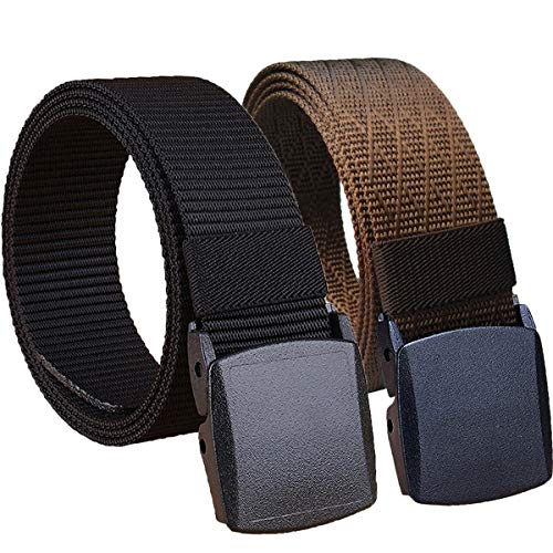 Hoanan 2 Pack Military Nylon Belt, 1.25