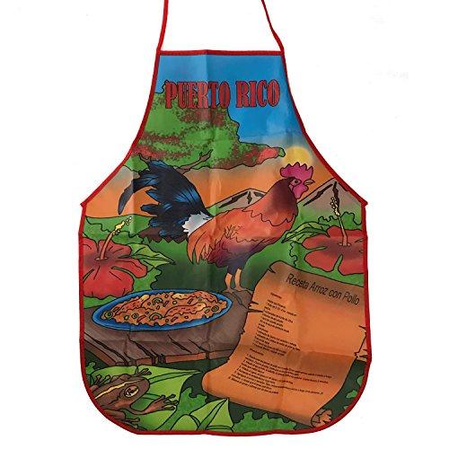 Apron Morro Puerto Rico Mofongo (Delantal Receta arroz con Pollo) -