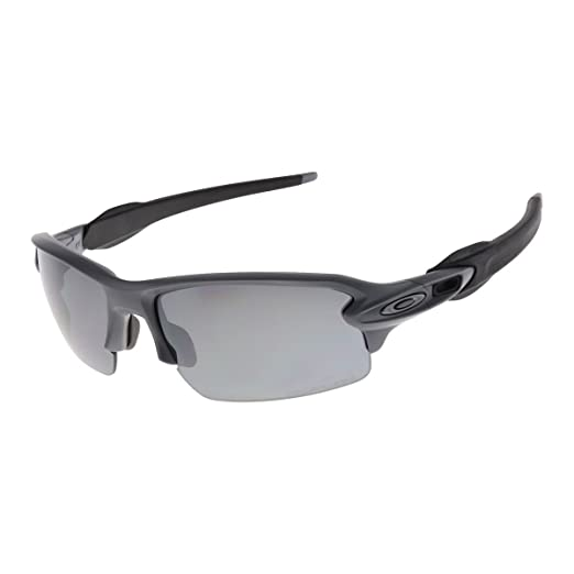 c6fef24bc44f6 Amazon.com  Oakley Men s MPH Flak 2.0 Polarized Matte Heather Grey Black  One Size  Sports   Outdoors