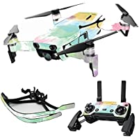 MightySkins Skin for DJI Mavic Air Drone - Watercolor White | Max Combo Protective, Durable, and Unique Vinyl Decal wrap cover | Easy To Apply, Remove, and Change Styles | Made in the USA