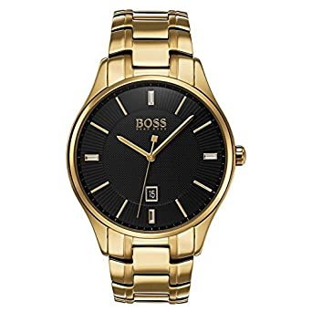 Amazon.com: Hugo Boss 1513521 Governor Mens Watch Gold 44mm Stainless Steel: Watches