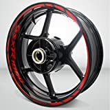 Suzuki GSXR 1000 Gloss Red Motorcycle Rim Wheel Decal Accessory Sticker