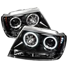 Spyder Auto PRO-YD-JGC99-CCFL-BK Jeep Grand Cherokee Black CCFL LED Projector Headlight with Replaceable LEDs