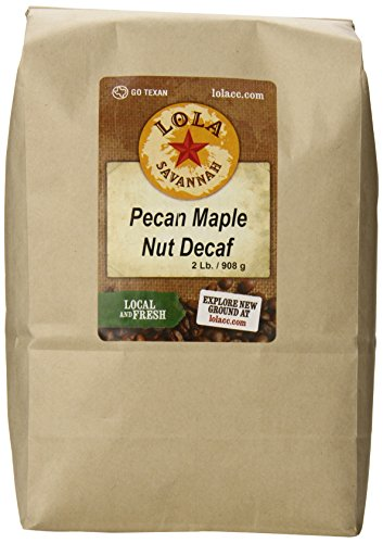 Pecans Maple Syrup - Lola Savannah Pecan Maple Nut Ground Coffee - Crafted Rich Pecan Nutty Flavor & Hint of Maple Syrup | Decaf | 2lb Bag