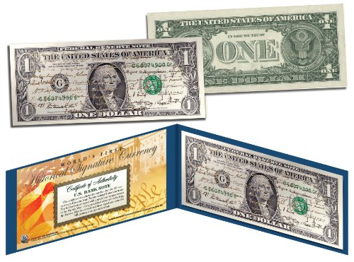 - ALL 44 U.S. PRESIDENTS GOLD LEAF SIGNATURES - Legal Tender Official U.S. $1 Bill