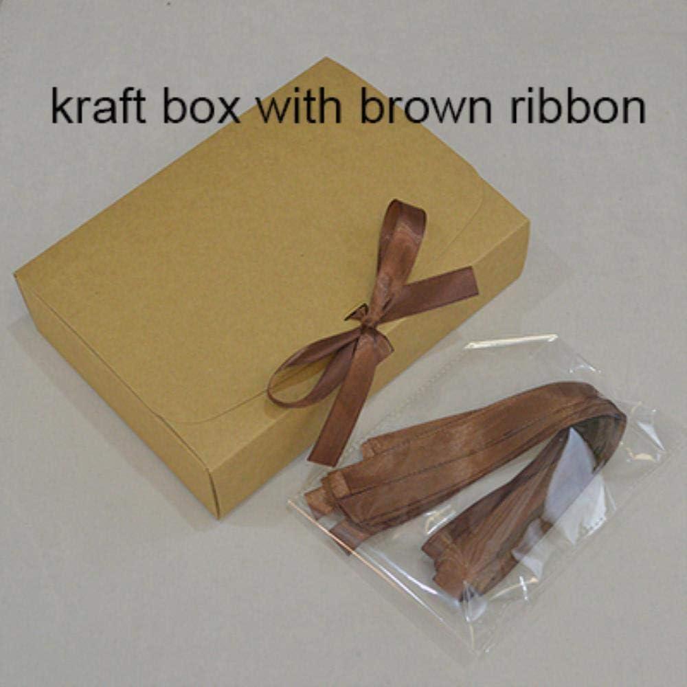 CTOBB 10 Cajas de Embalaje de Regalo de Papel Kraft con Cinta, Color Blanco, Caja de cartón para Embalaje de Regalo, Beige, 32x24x4cm: Amazon.es: Hogar