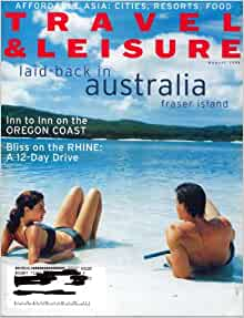 Travel Leisure August  Issue Single One