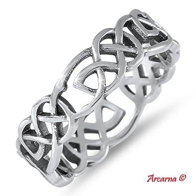 925 Sterling Silver Celtic Everlasting Love Knot Fingerthumb Ring