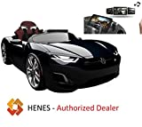 Henes Broon F830 with Tablet PC 12V Kids Ride On Car Electric Powered Wheels Remote Control RC Black