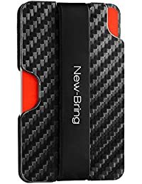 Carbon Fiber Slim Card Holder Wallet & RFID Blocking Money Clip