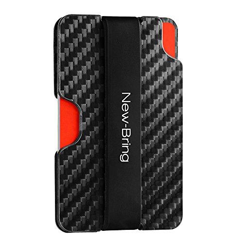 New Fiber (NEW-BRING Carbon Fiber Card Case Wallet Credit Card Holder (black))
