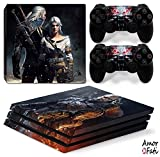 AmorFati PS4 PRO Playstation 4 PRO Console Skin Decal Sticker - Witcher + 2 Controller Skins Set