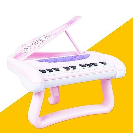 FairOnly Triángulo Electrónico Teclado Piano Juguete Música de Dibujo Luz Ligera Juguete Educativo Niños Niñas Rosado