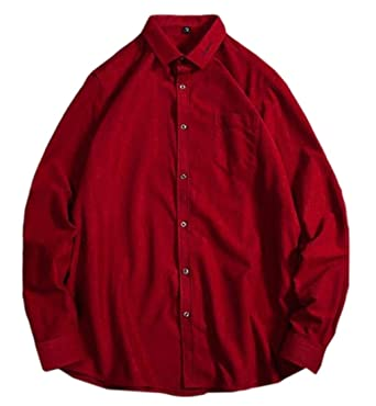 4a6979126fb Amazon.com: yieg-mx Los Hombres de Moda ropa de Trabajo Camisetas de Manga  Larga botón abajo pana 3 L: Clothing