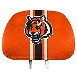 NFL Cincinnati Bengals Full-Print Head Rest Covers, 2-Pack