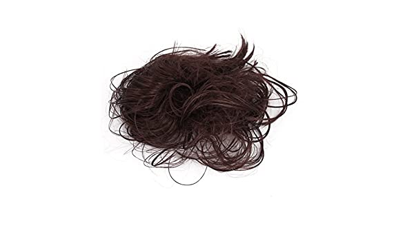 Amazon.com: Estilo Corto eDealMax Cola de Caballo de Scrunchie Bollo peluca rizada Pelo elástico Band Brown: Health & Personal Care