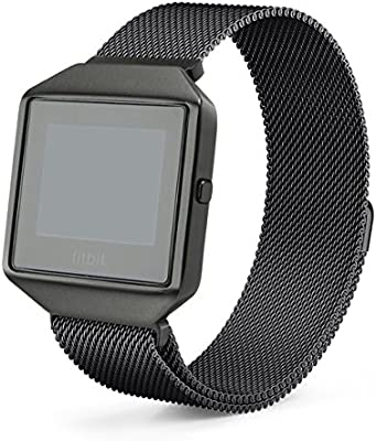 Frame Replacement Milanese Band Metal Strap for Fitbit Blaze Stainless Steel