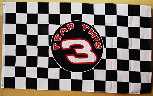 Dale Earnhardt Fear This #3 Flag 3' x 5' Indoor Outdoor Banner