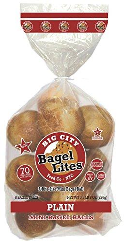 Cheap 48 Bagel Lites Fresh, NYC mini bagel balls- PLAIN (6 PACK)