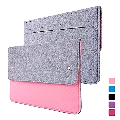 Mini Ipad Felt - Happy Hours - 11 Inch Ultra Thin Eco Felt Bag Cover for Apple MacBook iPad Air / Premium Slim Netbook, Laptop, Notebook, Computer Protective Sleeve Case(Pink)