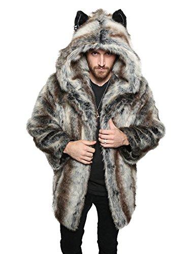 043ae8dfba759 Authentic Grey Wolf Faux Fur SpiritHoods Coat (Medium) - Import It All