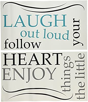 Wall Pops WPQ0813 Laugh Out Loud Quote Decals
