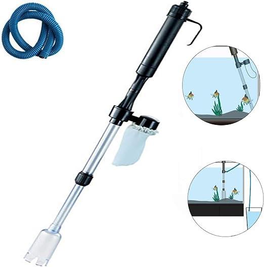 Intercambiador de Agua con sifón eléctrico para acuarios, Aspirador de Grava, Tanque de Peces, Acuario, sifón, Agua, Herramientas de Aqustic: Amazon.es: Hogar