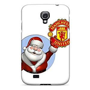 Rugged Skin Case Cover For Galaxy S4- Eco-friendly Packaging(man U Christmas)