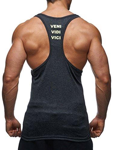 Nelson Leif Homme Fitness Gym Stringer gelb Ln06205 Anthrazit 8qdqU